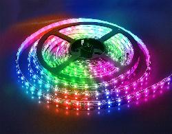Светящаяся разноцветная светодиодная лента