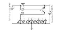 Схема электросети Led светильника