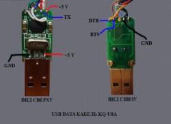 USB штекер и контакты