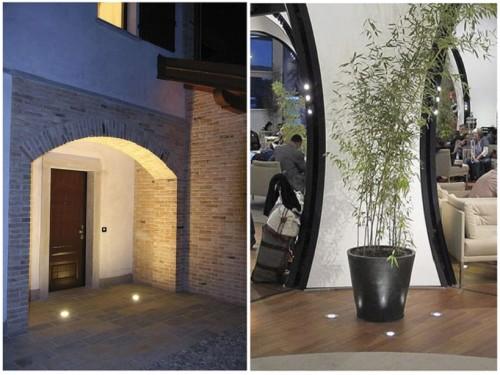 Светильники у входа в дом и в доме