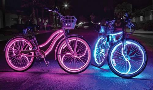Светодиодная лента на велосипеде