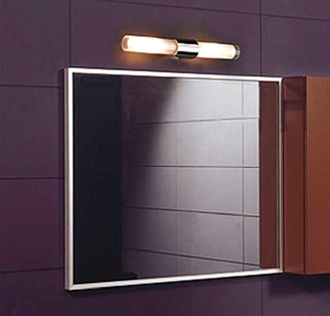 светильники в ванной над зеркалом фото