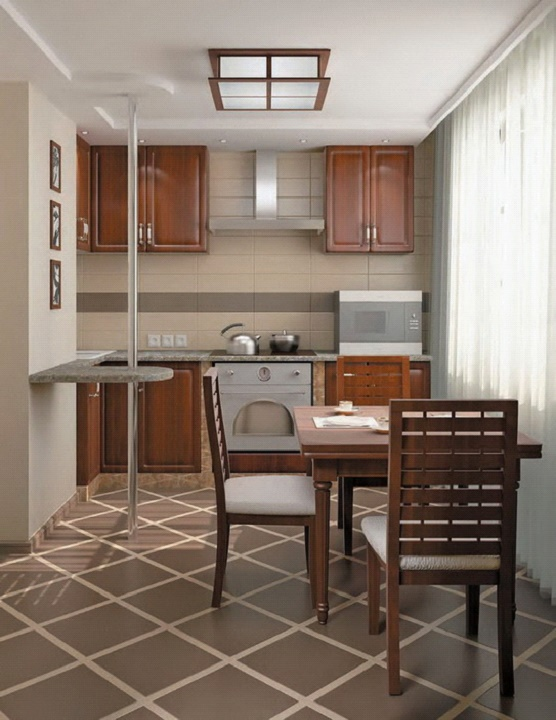 Кухня и вариант освещения