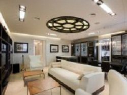 Потолок с прямоугольными светодиодными панелями