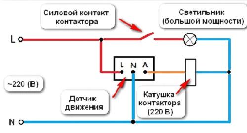 Вариант подключения датчика