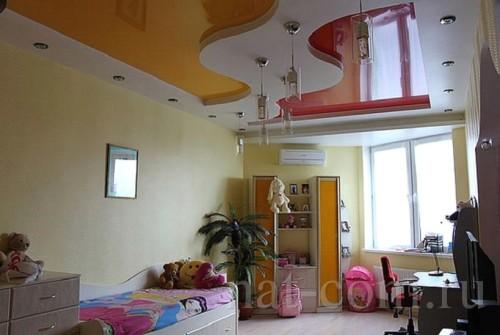 Подвесной потолок в деткой комнате
