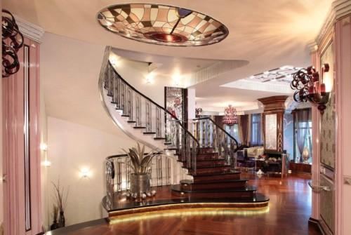 Освещение комнаты в стиле модерн