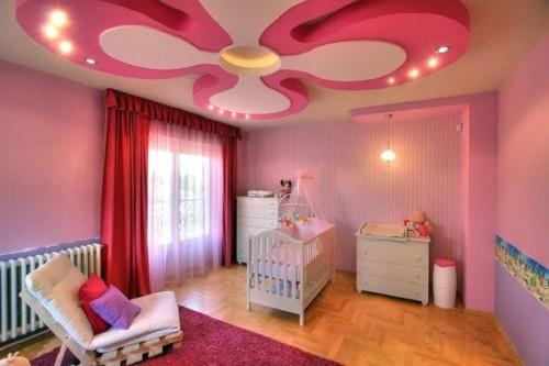 Детская комната с фигурным потолком