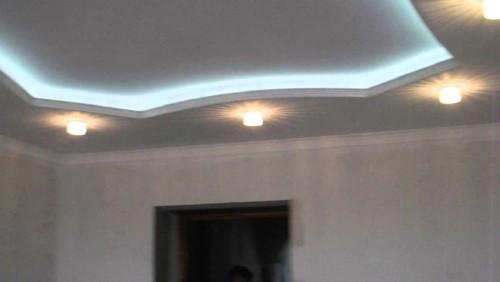 Освещение потолка из гипсокартона