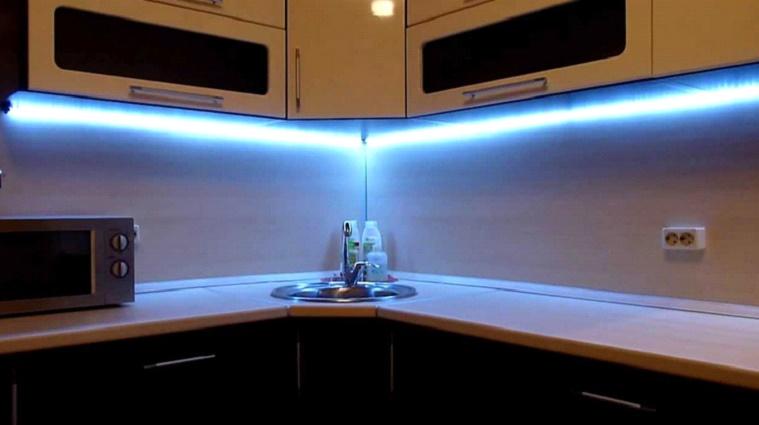 Своими руками светодиодная подсветка кухни