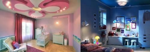 Освещение детских комнат