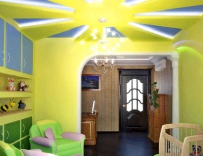 потолок из гипсокартона фото кухня маленькая