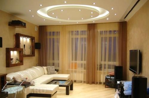 Потолок с круговой подсветкой