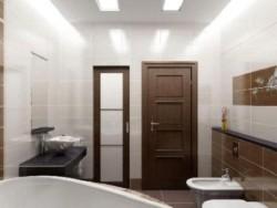 Плоские лампы в ванной