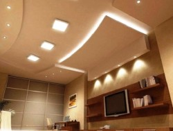 Плоский светильник на потолок