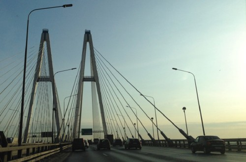 Освещение на мосте