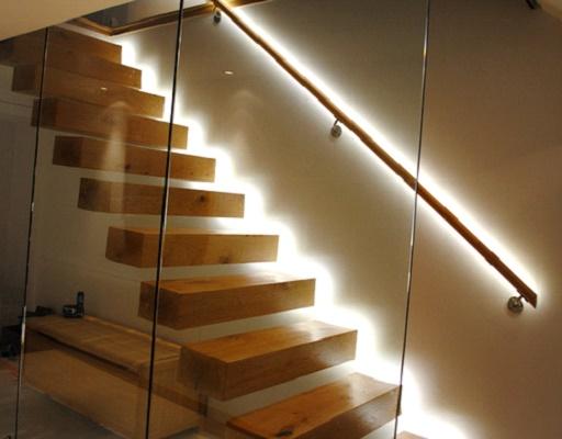 Организация освещения лестницы