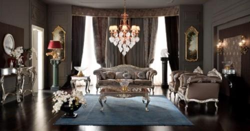 Комната с бронзовыми светильниками