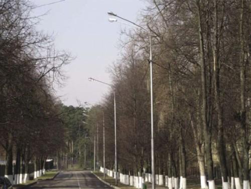 Улица с освещением