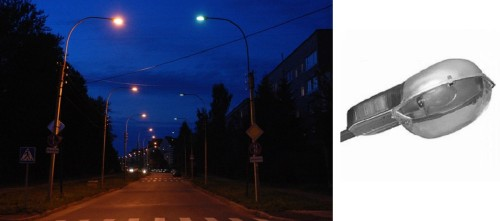 Уличная разновидность ламп