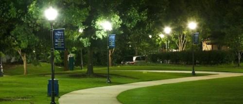 Освещение в парке