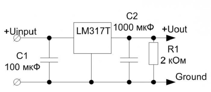мощный регулируемый блок питания на lm317t