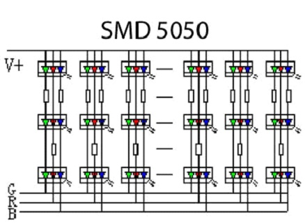 Схема SMD 5050