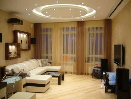 Точечный свет в комнате