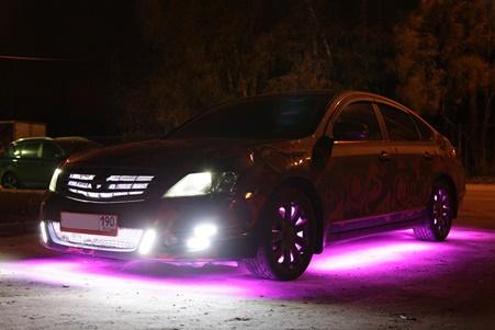 Подсветка нижней части автомобиля