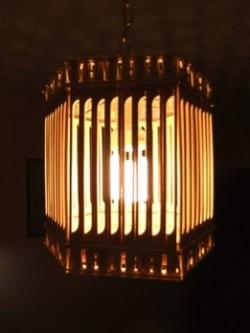 Бамбуковый абажур