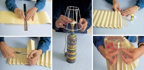 Пошаговое изготовление абажура