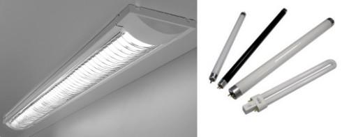 Люминесцентный вариант ламп