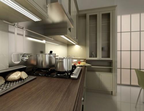 Подсветка в интерьере кухни