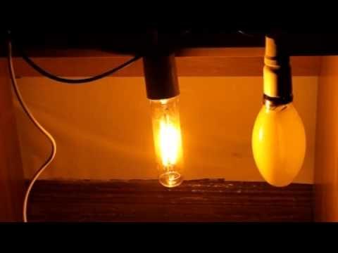 Включенная лампа