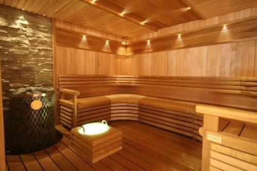 Точечное освещение в бане