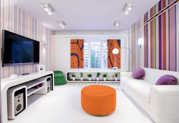 Дизайн комнаты 17 кв.м спальня гостиная с балконом