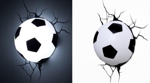 Лампа в виде футбольного мяча