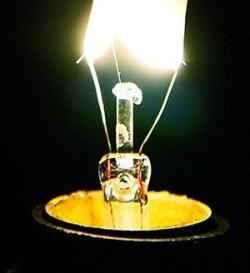 Свет от лампочки