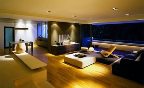 Освещение в студии квартире