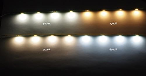 Свет от различных светодиодов
