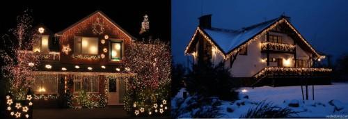 Вариант тематической подсветки домов