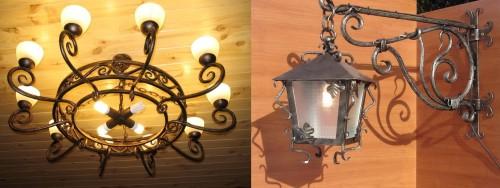 Популярнейшими моделями кованных светильников