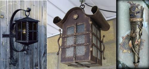 Вариант уличных кованных фонарей