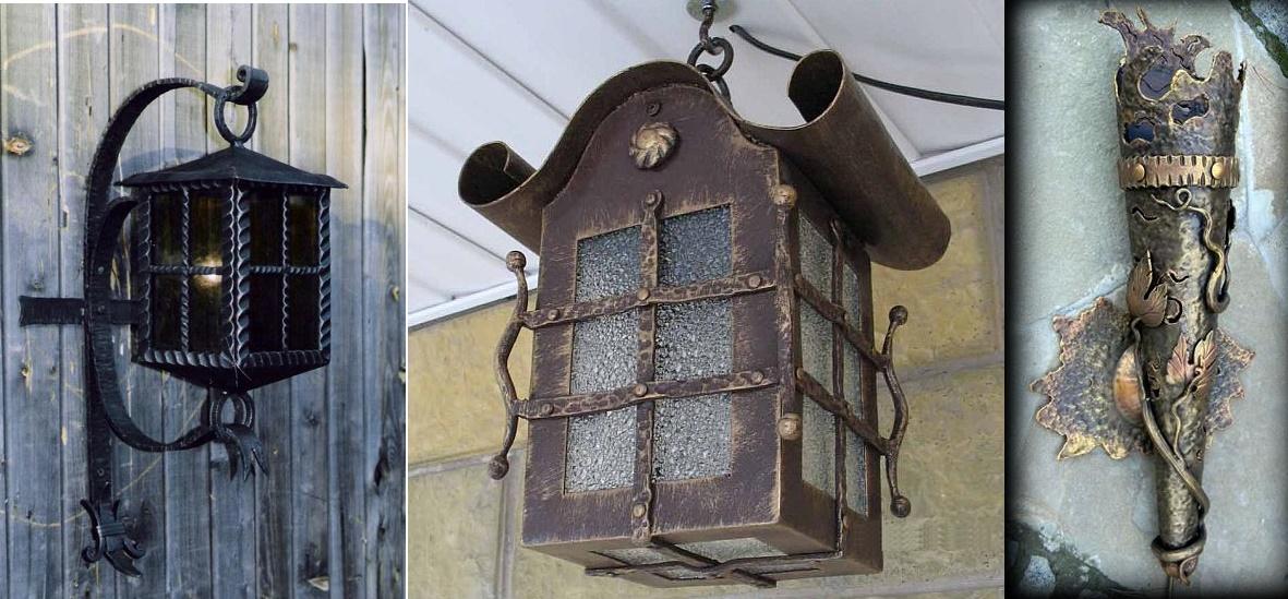 Кованый светильник своими руками из 420