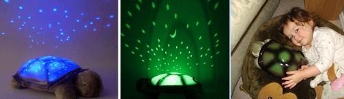 Варианты свечения ночника звездное небо из игрушки