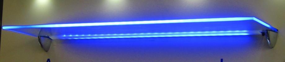 Подсветка для стеклянных полок своими руками 701