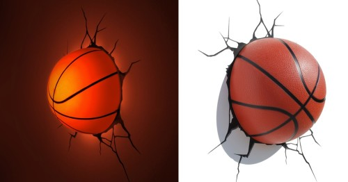 Лампа в виде баскетбольного мяча