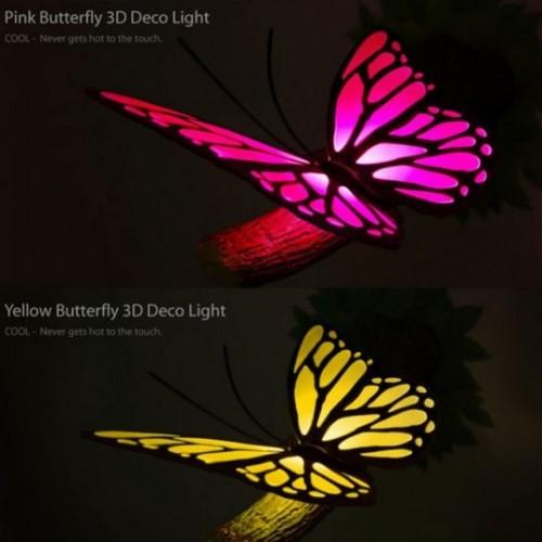 Ночник в виде бабочки для придания интерьеру природного тепла