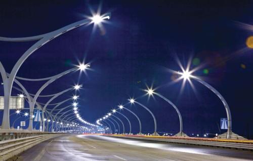 Ночной вариант освещения дорожного покрытия