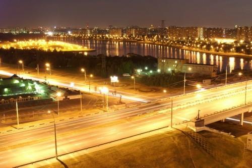 Вариант ночного освещения улиц города